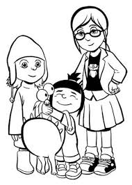 Small Picture Despicable Me Coloring Pages For Kids coloring page