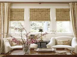 ... Window Treatments Ideas For Living Room Sakura Flowers Decorate Amazing  Interior Simple Wooden And Bay Windows ...
