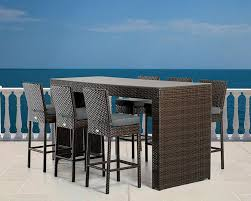 Modern Pub Table Set Modern Outdoor Bar Table Set 44p464 Set