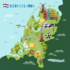 Animated Travel Map Holland Cultural Travel Map Poster Vector Free Download