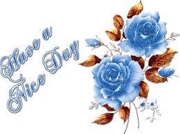 good day beautiful glittering blue roses