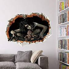 3D Halloween Wall Sticker, Outgeek 2 Pcs Horror ... - Amazon.com