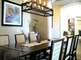 rustic lights for dining room glamorous lighting ideas black rectangle chandelier over intended rectangular light table
