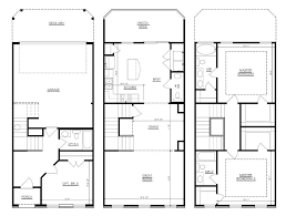 townhouse with garage plans home desain two story floor 1