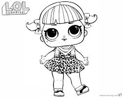 Lol Surprise Doll Coloring Pages Series 2 Cherry Free Printable