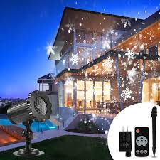 Outdoor Led Christmas Projection Lights Christmas Projector Lights Outdoor B Right Snowflake Projection Lights Waterproof Led Christmas Snow Lights With Remote Control Sparkling Landscape
