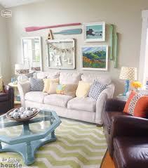 happy living room teal
