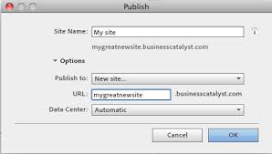 Publish Adobe Muse websites to Business Catalyst