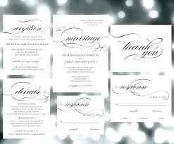 Wedding Invitation Set Templates Wedding Invite Sets Calligraphy Wedding Invitation Set Template We