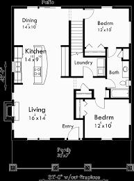 bungalow floor plans. Main Floor Plan For 10128 Bungalow House Plans, 1.5 Story Large Kitchen Plans