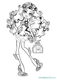 Monster High Coloring Page Printable Coloring Pages Monster High