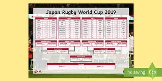 World Cup Fixture Chart Free Rugby World Cup 2019 Fixtures Wall Chart