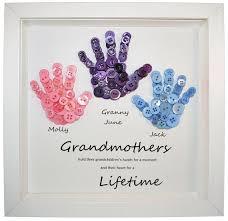 grandmother birthday present grandmother gift on art on handprints mothers day gift ideas