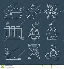 Science Physics Physics Science Icons Flat Stock Vector Illustration Of