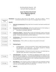 Business Agenda Nonprofit Board Meeting Agenda Template 5 Cpo Board