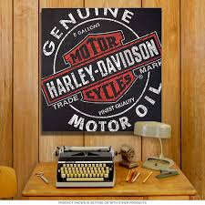 Game Room Wall Decor Harley Davidson Motor Oil Can Canvas Print Game Room Wall Decor