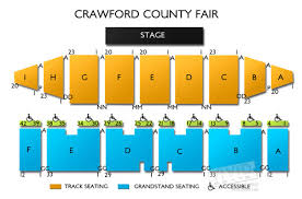 Grandstand Seating Diagram Crawford County Fair