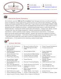 Pmp Sample Resume Pmp Sample Resumes Ins Ssrenterprises Co Shalomhouseus 5