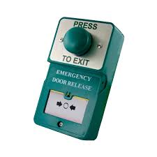 dual unit green dome press to exit c w emergency door release