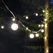 festoon lights connectable warm white smd leds clear bulbs black rubber cable