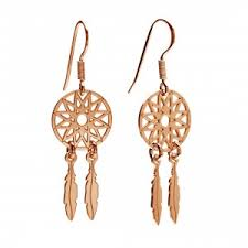 Dream Catcher Earing DREAM CATCHER EARRINGS Silver 100 Rhodium or 100K gold Plated 64