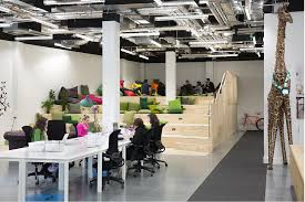Dublin office space Interior Heneghan Peng Airbnb Dublin Designboom Designboom Heneghan Peng Creates Open Collaborative Spaces For Airbnb Dublin Office