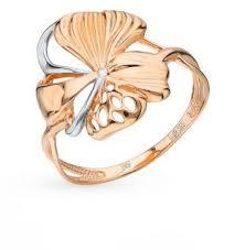 Золотое кольцо ЭСТЕТ 01К0112322Р*: красное и розовое ...