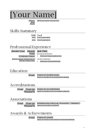How To Write A Resume Template Professional Resume Template Ideas