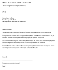 Sample Letter Confirming Employment Employment Verification Letter 40 Sample Letters And