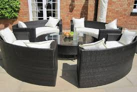 rattan garden table and chairs round chair design ideas