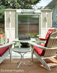 deck privacy screen from repurposed