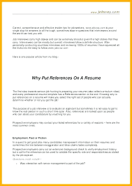 What Should A Resume Include Extraordinary Should References Be Included On A Resume Resume Include References