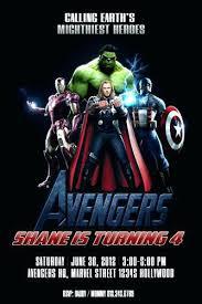 Personalized Superhero Birthday Invitations Marvel Superhero Birthday Party Invitations Stunning Avengers