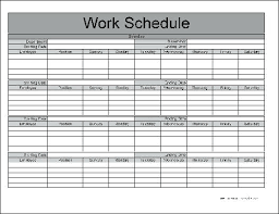 Monthly Schedule Excel Template Free Monthly Schedule Template Work Com Planner 2019
