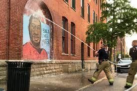 George Floyd mural in downtown ...
