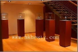 Standing Watch Display Case Fancy Standing Watch Perfume Display Showcase Tower Led Light 50