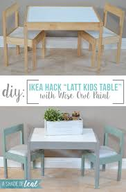 ikea latt kids table makeover