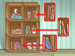 image titled decorate. 4 Ways To Decorate A Bookshelf Image Titled Step With Wallpaper