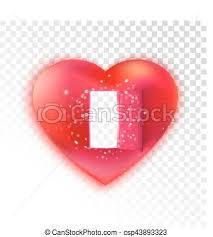 heart with open door on transpa csp43893323