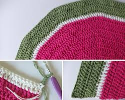 half circle watermelon rug crochet pattern