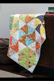 58 best Challenging Quilting Projects images on Pinterest | Quilt ... & Twisted Triangles Quilt Pattern. Practice your curved piecing skills, and  make hexagons that spin Adamdwight.com