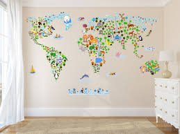 map of countries new world map wall decal mural cultural world map wall decal