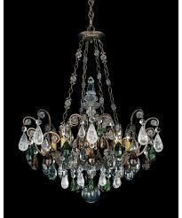 schonbek 3587 renaissance rock crystal 27 inch wide 8 light chandelier pics