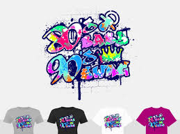 Design Graffiti T Shirts Bold Modern T Shirt Design For Favourite Things By Stierney