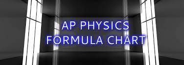Ap Physics Formula Chart Physics Ap Dual