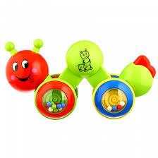 <b>Музыкальная развивающая игрушка</b> Huggeland Веселая гусеница