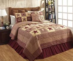 634 best Primitive Country Bedrooms, Quilts, Pillows and Shams ... & Colonial Star Burgundy Quilt Bundle in 4 SIZES Adamdwight.com