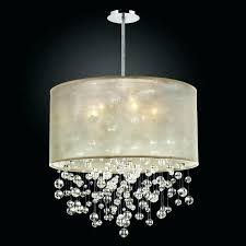 shocking ideas drum chandelier with crystals black crystal shade small double white