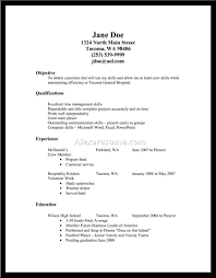 Cover Letter Resume Examples Fast Food Fast Food Worker Resume