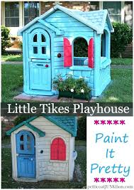 playhouse for 10 year old little playhouse extreme paint makeover petticoat how to paint little playhouse